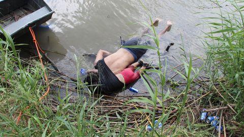 Un padre y su hija de menos de dos años perdieron la vida al intentar cruzar el río Bravo cerca de la ciudad mexicana de Matamoros