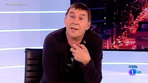 Arnaldo Otegi, en un momento de la entrevista en Televisión Española