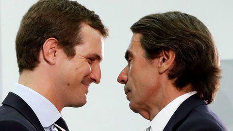 Pablo Casado, esta mañana con Aznar