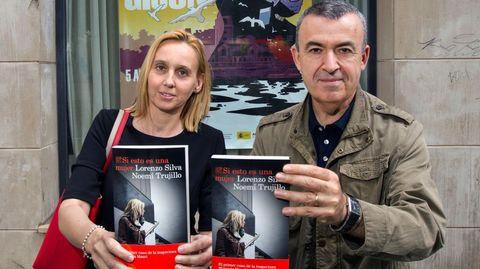 Noemí Trujillo y Lorenzo Silva, en la Semana Negra de Gijón
