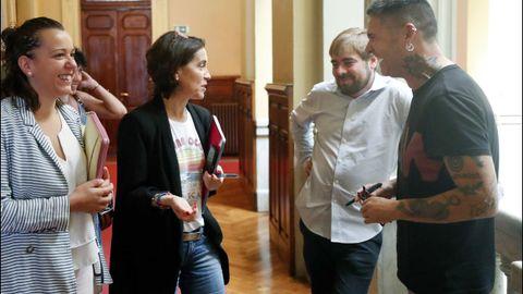 Dolores Carcedo conversa con Daniel Ripa y Rafael Palacios
