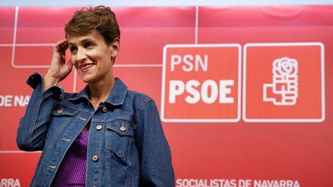 Imagen de la socialista María Chivite