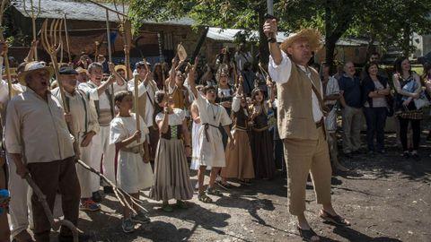 Escenificación da lendaria revolta dos guímaros na feira medieval do ano pasado