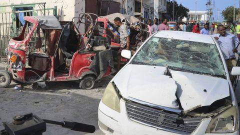 Imagen de archivo de un atentado cometido por el grupo terrorista Al Shabab en la capital de Somalia el pasado junio