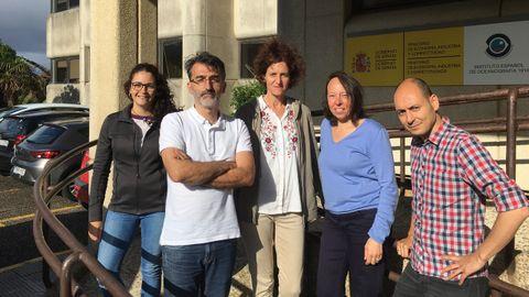 Jesús Gago, con los miembros del grupo de oceanografía del IEO de Vigo