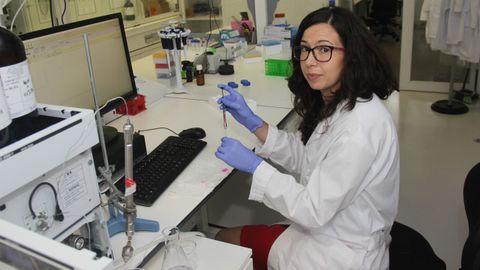 cica.Financiación de Inditex. Elena Pazos es una de las dos investigadoras del programa InTalent que financia Inditex en el Cica. Trabaja en la identificación de nuevas dianas terapéuticas