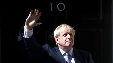 Boris Johnson, a su llegada al 10 de Downing Street