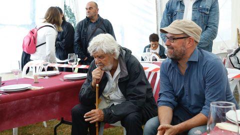 Acto de Anova. En la imagen, Xosé Manuel Beiras y Martiño Noriega.