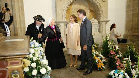 Ofrenda a Rosalía en el Panteón de Galegos Ilustres
