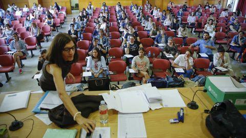 Imagen de archivo de un examen de oposiciones para plazas de funcionarios de educación