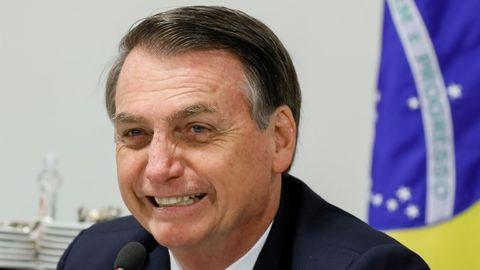 El presidente de Brasil, Jair Bolsonaro, en una comparecencia