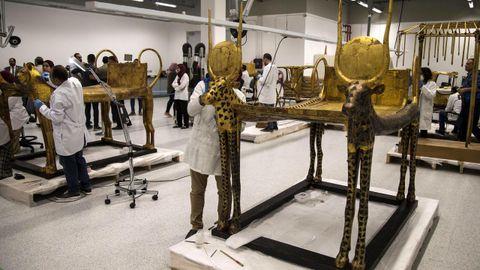 Los trabajos de restauración en el Gran Museo Egipcio de Giza durarán ocho meses