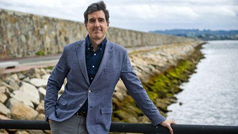 Pablo Arangüena, ayer, en el dique de abrigo coruñés