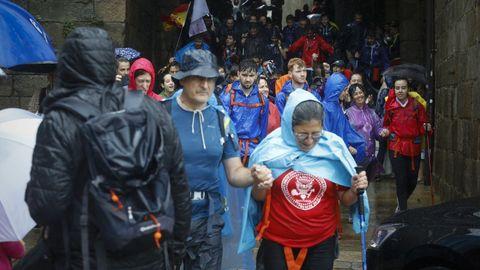 Turistas en las inmediaciones de la Catedral de Santiago