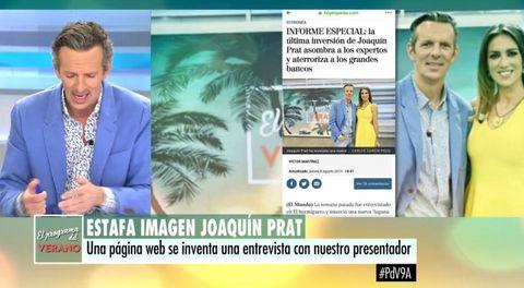 Joaquín Prat denuncia que se utilice su imagen para promocionar inversiones en criptomonedas