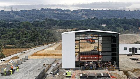 El cambiador de ancho que se está construyendo en Taboadela, a las puertas de Ourense.