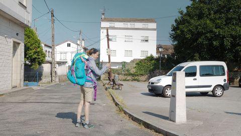 LA CRUZ. No es de los tramos más feos del Camino Portugués, pero la entrada en el municipio de Padrón a través de A Ponte, tras cruzar el puente sobre el río Ulla, no se presta a grandes fotografías.