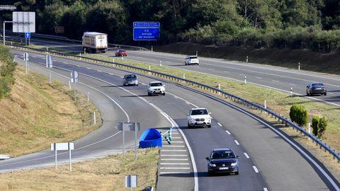 Imagen de la A6 en zonas de reciente reasfaltado