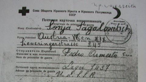 Carta de un gallego. La mayoría de los republicanos gallegos confinados en los campos rusos, como el marino de A Pobra do Brollón Pedro Armesto, sobrevivieron. Muchos  regresaron en 1954 en el barco Semíramis, junto a los soldados de la División Azul. Se calcula que dos docenas de estos voluntarios de la unidad militar también eran gallegos