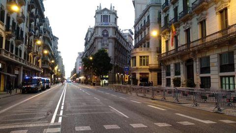 La Via Laietana, en una imagen de archivo