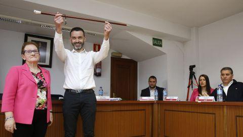 El alcalde de Santa Comba, David Barbeira, gobernará el municipio durante los dos pirmeros años de mandato
