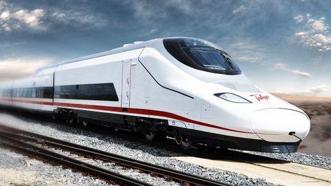 Recreación realizada por Talgo de su tren de muy alta velocidad Avril