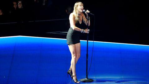 Miley Cyrus en su primera aparición pública tras su divorcio