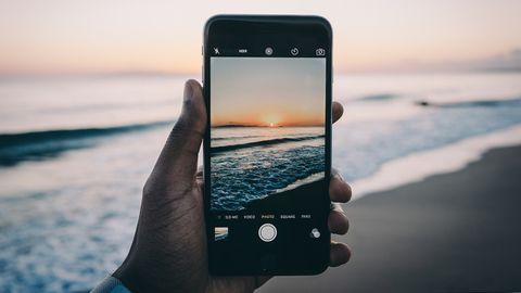 Fotografía de una playa