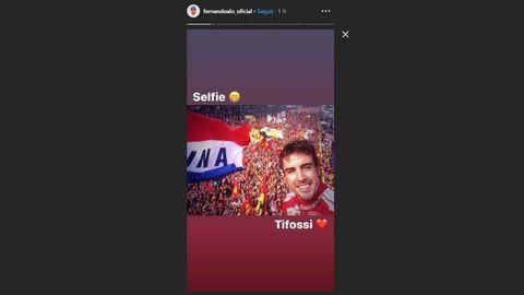 Captura de las Stories de Instagram de Fernando Alonso