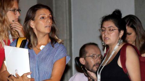 Los representantes de Unidas Podemos, Yolanda Díaz  y Pablo Echenique, entre otros