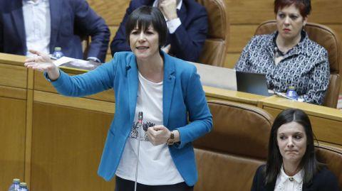 Ana Pontón en el Parlamento de Galicia