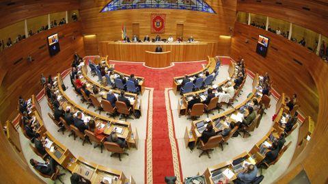 Pleno del Parlamento de Galicia en una imagen de archivo