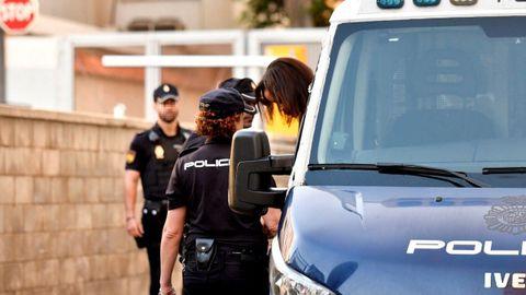 Ana Julia Quezada, la autora confesa de la muerte del niño Gabriel Cruz, a su llegada este lunes a la Audiencia Provincial de Almería