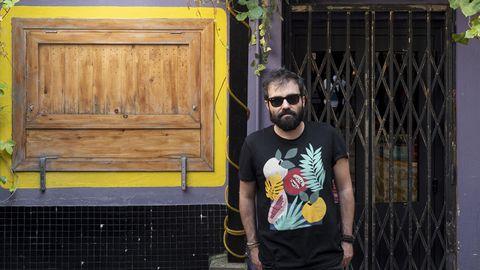 Alberto García, guitarrista y cantante de una de las bandas asturianas del momento
