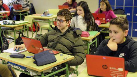 El IES Laxeiro, de Lalín, es uno de los centros gallegos que cuenta con libro digital