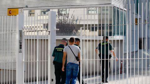 Cuartel de Milladoiro (A Coruña) donde está el presunto asesino de Valga (Pontevedra)