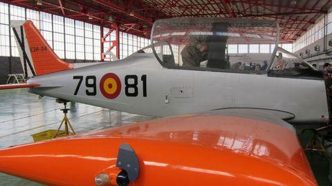 Avión Tamiz del Ejército del Aire, similar al siniestrado en Murcia