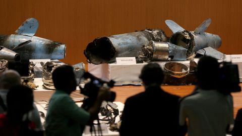 El Gobierno de Riad mostró los restos de misiles que supuestamente avalarían la acusación contra Irán