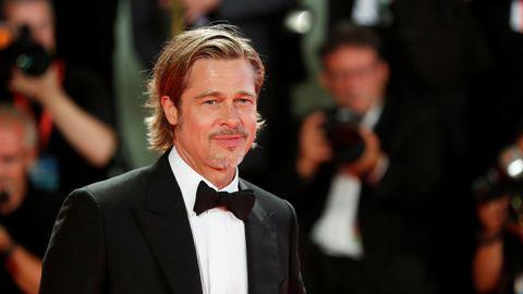 Brad Pitt, a finales del pasado agosto, en la alfombra roja de Venecia, donde presentó «Ad Astra» en la Mostra
