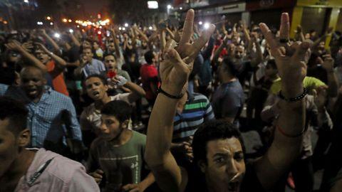 Cientos de personas participaron en una de las movilizaciones más fuertes contra la represión durante el mandato del mandatario egipcio