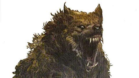 Boceto en el que el artista Cándido Pazos recrea al monstruo