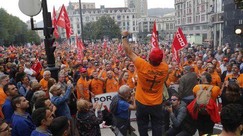 Manifestacion de trabajadores de Vesuvius