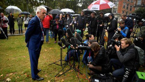 El presidente de la Cámara de los Comunes, John Bercow, explica a la prensa los pasos a dar tras el  fallo del Supremo