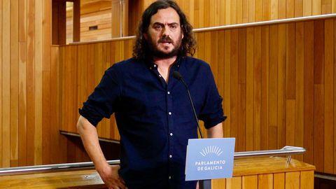 El diputado de Grupo Común da Esquerda, Antón Sánchez