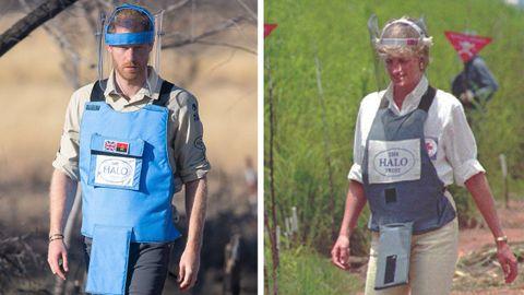 Harry, en su visita a un campo de minas en Angola donde su madre, Diana, estuvo en 1997