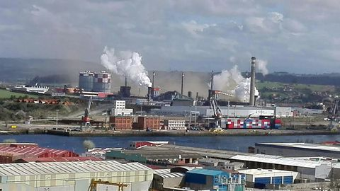Instalaciones de Arcelor en Avilés