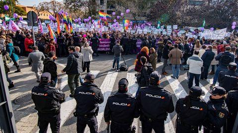 Manifestación feminista en Sevilla