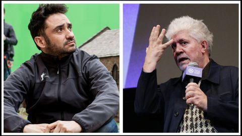 Los realizadores Juan Antonio Bayona y Pedro Almodóvar, dos de los cineastas que abandonan la SGAE