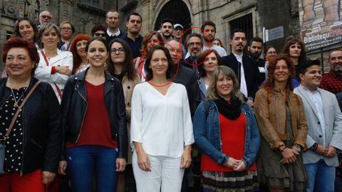 Liceras, número 1 de Más País por Pontevedra, y Bescansa, número 1 por A Coruña, en la presentación de la candidatura de la segunda a liderar Podemos Galicia el pasado año