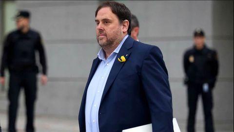 2 de noviembre del 2017. Oriol Junqueras llega a la Audiencia Nacional para declarar. Ese mismo día ingresó en prisión provisional